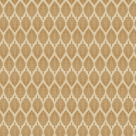 Beige stylish endless pattern with leaves  Seamless decorative texture  Template for design and decoration textile, wrappers, backgrounds Vector