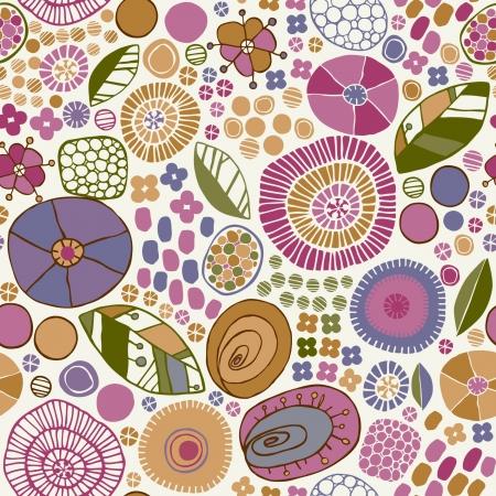 装飾的な花の様式化されたテクスチャ無限パターンと花、葉、花弁テンプレート設計生地、ラッパー、カバーしています背景