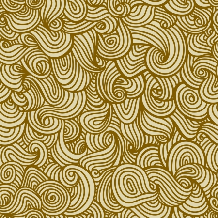 Neutral beige seamless texture  Endless wavy pattern, template for design and decoration  Illustration