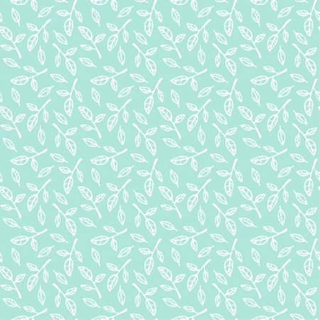 Blue seamless pattern with leaves  Endless natural neutral pattern  Template for design and decoration fabric, covers, backgrounds, wrapping paper Stock Vector - 18790695