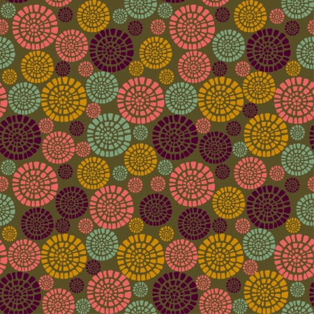 country side: Decorative stylized seamless pattern with flowers  Endless bright geometrical texture  Template for design fabric, backgrounds, packages, wrappers Illustration