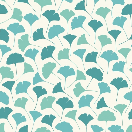 ginkgo leaf: Delicate spring seamless texture with leaves  Endless decorative pattern  Template for design and decoration fabric, wrapping paper, covers, package