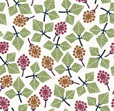 Floral stylized seamless texture  Endless pattern with retro leaves, flowers, petals  Template for design and decoration textile, backgrounds, covers, wrappers  Stock Vector - 18790687