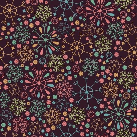 デザインと装飾の花テンプレートで明るい装飾中シームレス花柄テクスチャ無限カラフルなパターン  イラスト・ベクター素材