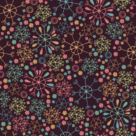 Bright decorative curly seamless floral texture  Endless colorful pattern with flowers  Template for design and decoration