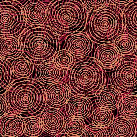 サークルの無限パターン赤シームレスな手描画テクスチャー テンプレート デザインの繊維の背景、パッケージ包装紙、