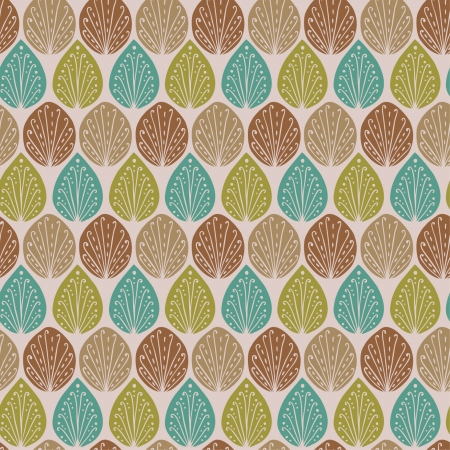 Seamless summer texture with curly elements  Endless colorful pattern with linear drops  Template for design and decoration fabric, background, package, cover, wrapping paper  Stock Vector - 20871661