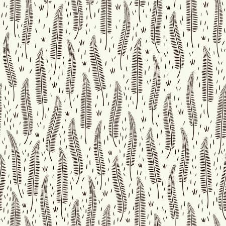 ferns: Decoraci�n perfecta textura patr�n sin fin Gr�fico blanco y negro Vectores