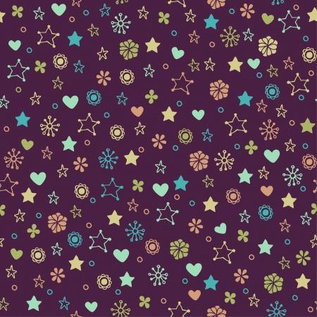 Decorative floral seamless texture  Endless pattern Vector