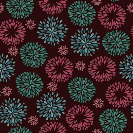 Floral decorative stylized pattern, Endless curly pattern Illustration