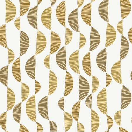 wavy fabric: Golden curly seamless texture, Wavy endless pattern