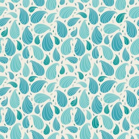 scandinavian people: Seamless blue ornamental pattern  Endless abstract retro texture