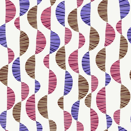 Seamless colorful wavy pattern  Endless decorative texture Stock Vector - 21684395