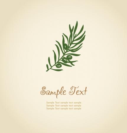 hoja de olivo: Ilustración de hojas de helecho