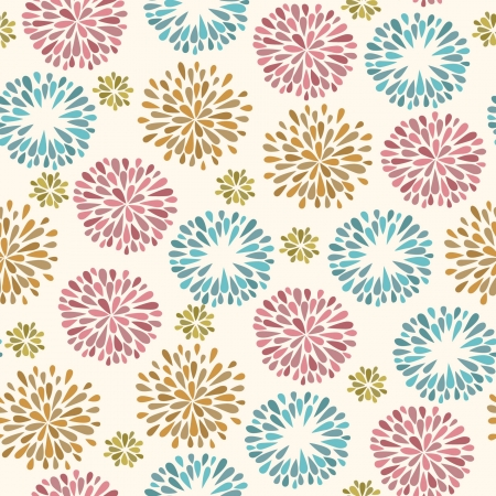 Summer bright seamless texture with flowers  Endless colorful pattern Stock Vector - 21684520