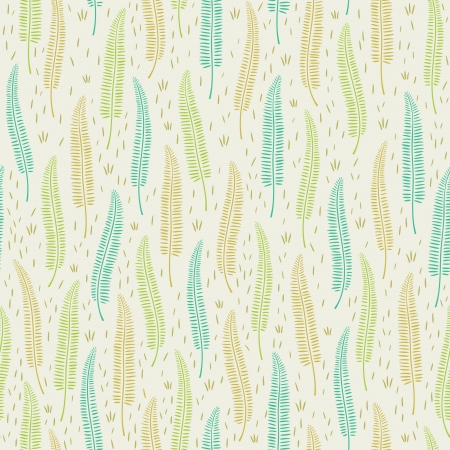Decorative natural seamless pattern with leaves    Vector