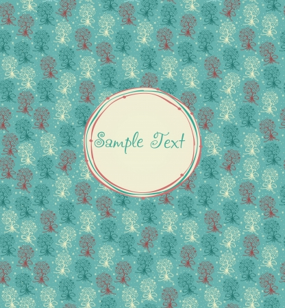 Seamless floral childish texture with silhouettes bunches    Vector