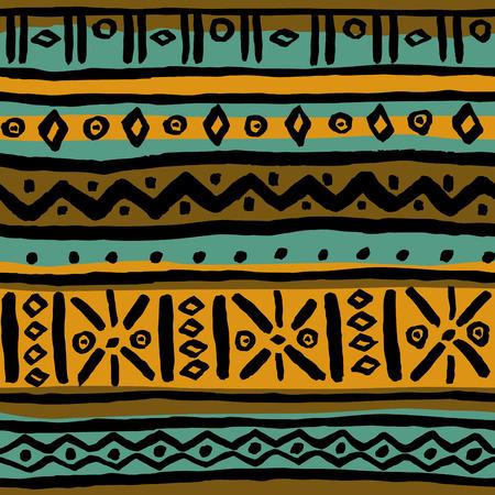 неочищенный: Бесшовные стилизованный этнический кисти нарисовал сырой образец. Шаблон для дизайна ткани, оберточная бумага, обложки, обувь, аксессуары