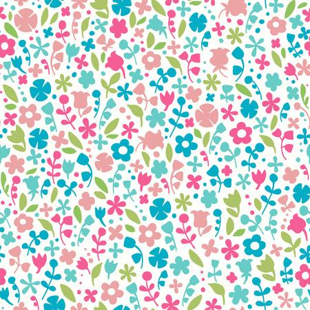 Fondo floral transparente. Doodle colorido patrón sin fin. Plantilla para el diseño de la tela, papel de regalo, tarjetas de felicitación, desgaste, accesorios, bolsos