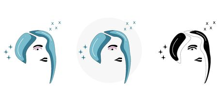 spa and beauty, logo template with image of girl