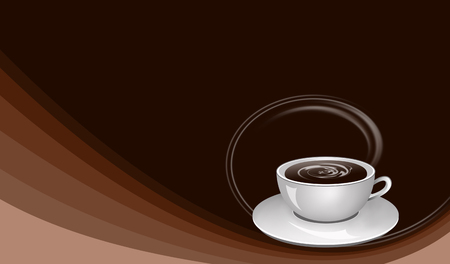 drink coffee: Brown background with cup of coffee illustration