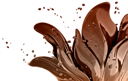 3d flower chocolate abstract background isolated rendering Foto de archivo - 109853515