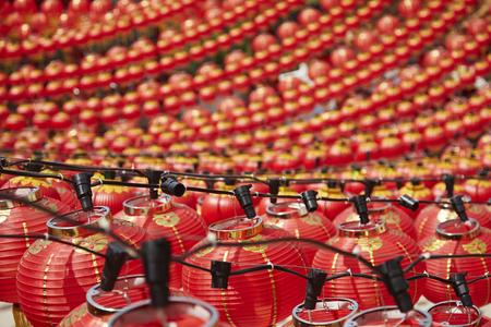 aligning: Red lanterns during Chinese New Year celebration LANG_EVOIMAGES