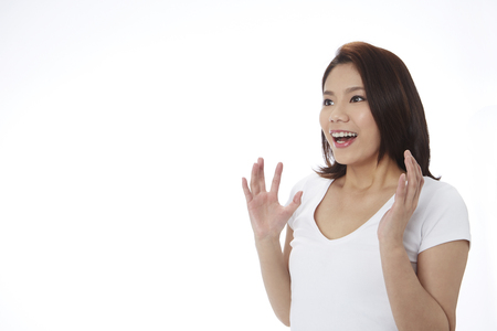 Young woman surprised