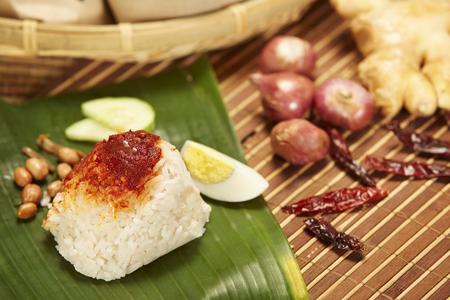 Nasi Lemak, traditional Malaysian breakfast