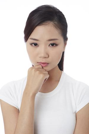 Young woman sad