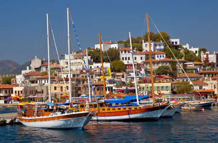 A view over marina in Marmaris harbor Stock Photo - 1039778