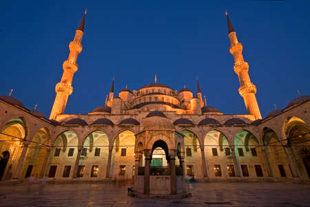 Blue Mosque of Istanbul at Dusk photo