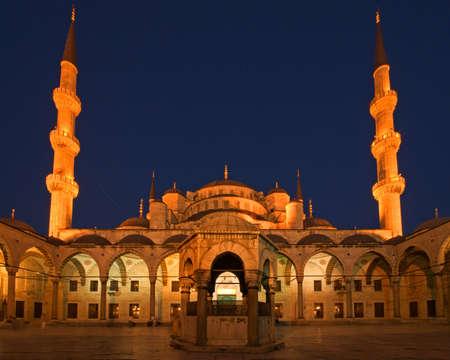 Blue Mosque of Istanbul at Night photo