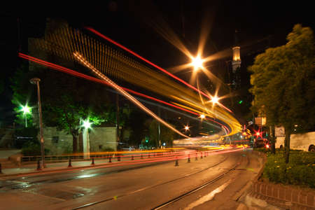 Night Traffic of Istanbul in Motion photo