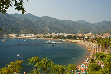 turquise: Beach resort with turquise sea shore