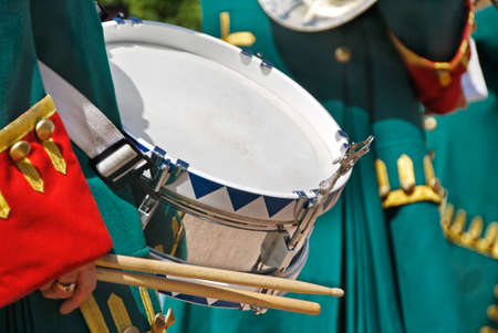 Close-up of a Soldier with a drum photo