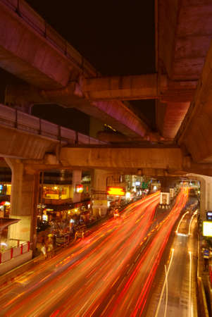 Busy hour in Bangkok streets at night Stock Photo - 1658079