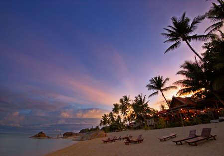Beautiful sunset at the beach Stock Photo - 1907994