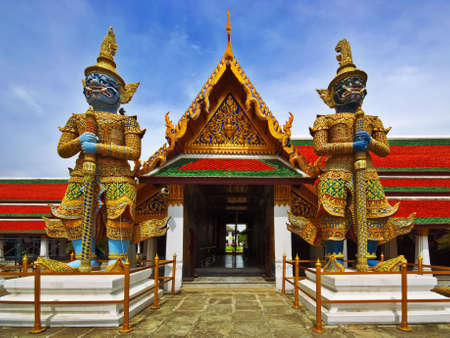 Thai Authentic Architecture in Bangkok photo