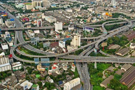 Highways of a city of Bangkok photo