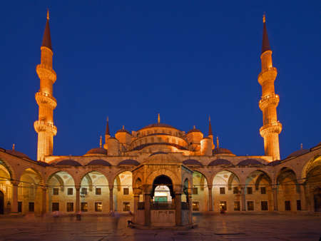 mehmed: Blue Mosque in Sunset light Stock Photo