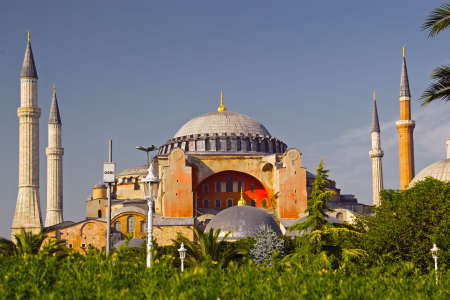 sofia: Famous Hagia Sofia in Istanbul Stock Photo