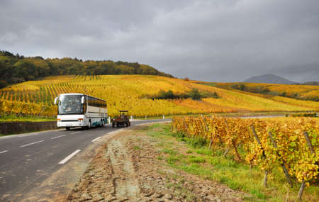 Scenic Vine Route Motorway in France photo