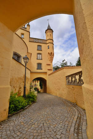 schwangau: Inside the Hohenschwangau castle in Bavaria Stock Photo