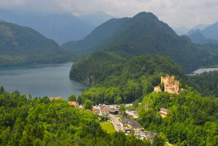 Landscape of Bavarian Alps in Germany photo