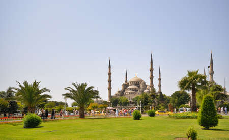 Blue Mosque of Istanbul at Bright Day photo