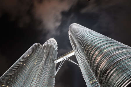 kl: Petronas Towers in KL at night