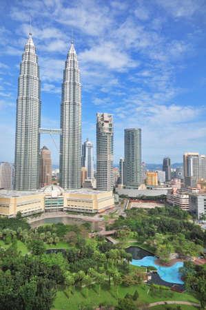 kuala lumpur tower: towers of Kuala Lumpur and gardens