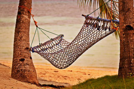 rest: Peaceful Hammock at Beautiful Sunset Beach