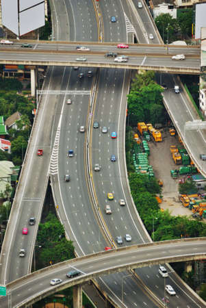 City Complex Traffic From Above photo